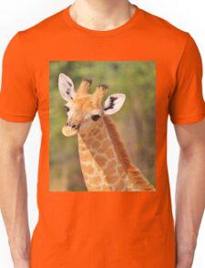 Giraffe - African Wildlife - Innocence is Adorable Unisex T-Shirt