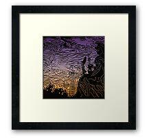 Twilight Paris Framed Print