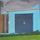 Blue Back Door (Painting) by Joan Wild