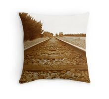 """On Track to """" No Where"""" Throw Pillow"""