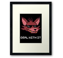 Five Nights at Freddy's Foxy - Deal With It (White Font) Framed Print