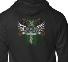 Celtic Cross Graphic Design Zipped Hoodie