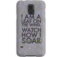 A Leaf on the Wind Samsung Galaxy Case/Skin