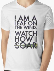 A Leaf on the Wind Mens V-Neck T-Shirt