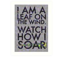 A Leaf on the Wind Art Print