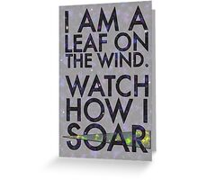 A Leaf on the Wind Greeting Card