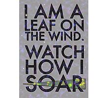 A Leaf on the Wind Photographic Print