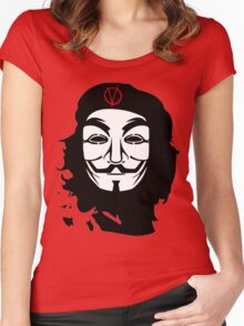 Che Guevara Anonymous Women's Fitted Scoop T-Shirt