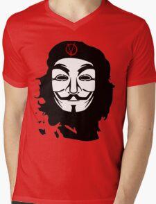 Che Guevara Anonymous Mens V-Neck T-Shirt