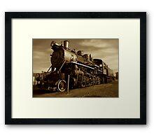 Sepia Train Framed Print