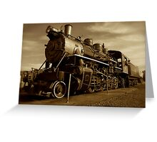 Sepia Train Greeting Card