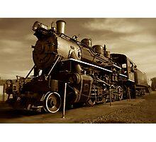 Sepia Train Photographic Print