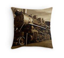 Sepia Train Throw Pillow