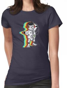 retro robot t-shirt coloured Womens Fitted T-Shirt
