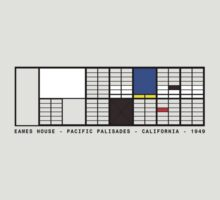 Eames House Architecture T-shirt by pohcsneb