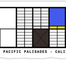Eames House Architecture T-shirt Sticker