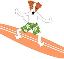Jack Russell Terrier Surfer by pounddesigns