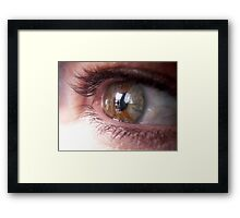 Aqueous humour (mind reflections) Framed Print