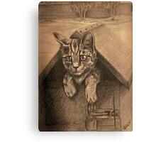 Kitty Mail Canvas Print