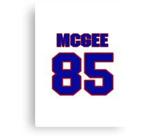 National football player Max McGee jersey 85 Canvas Print