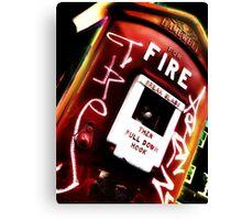 fire alarm Canvas Print