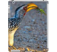 Yellow-Billed Hornbill with Lunch (Tockus leucomelas) iPad Case/Skin
