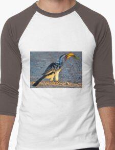 Yellow-Billed Hornbill with Lunch (Tockus leucomelas) Men's Baseball ¾ T-Shirt