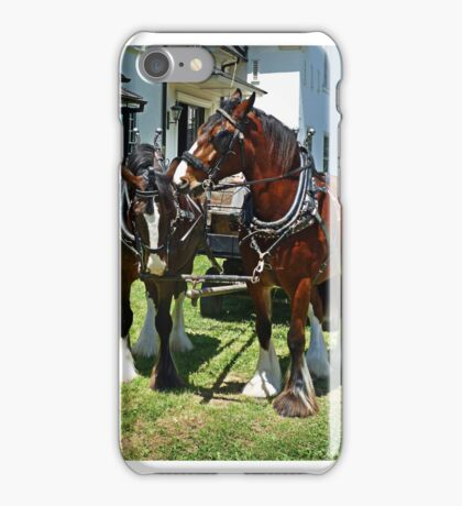 Team of Shire Horses iPhone Case/Skin