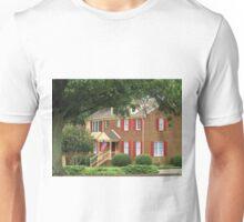 Colonial Home Flying U.S. Flag  (1222088650VA) Unisex T-Shirt