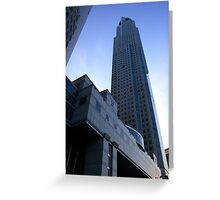 High Floor Building  Greeting Card