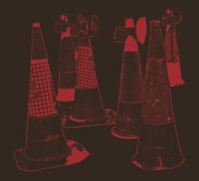 CONES red photocopy effect by nayamina