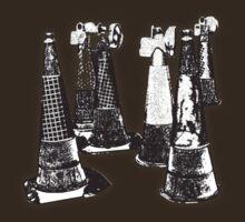CONES in Charcoal by nayamina