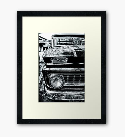 Texture in Cold Steel Framed Print