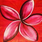 Red frangipani by Ngariec