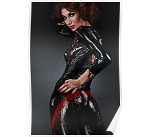 Liquid Latex Girl Poster