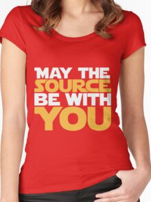 May The Source Be With You Women's Fitted Scoop T-Shirt