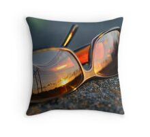sunset reflected Throw Pillow