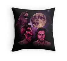 Three Bigby Wolf Moon Throw Pillow