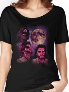 Three Bigby Wolf Moon Women's Relaxed Fit T-Shirt