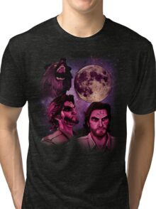 Three Bigby Wolf Moon Tri-blend T-Shirt