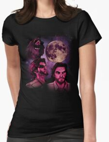 Three Bigby Wolf Moon Womens Fitted T-Shirt