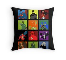 DC Comics Justice Leage Silhouettes Throw Pillow