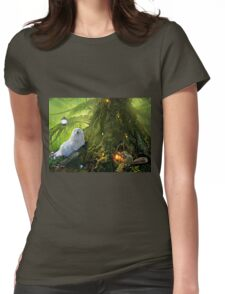 Snowdrop the Maltese  & Harry the Squirrel Womens Fitted T-Shirt