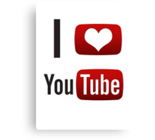 I Heart Youtube! Canvas Print