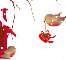 Lovely Robins Sticker