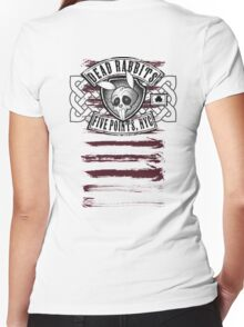 Dead Rabbits Vintage Biker Design Women's Fitted V-Neck T-Shirt
