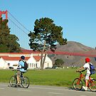 Cycling in San Francisco by Karin  Hildebrand Lau