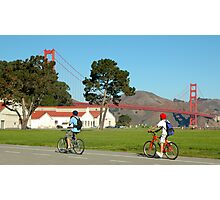 Cycling in San Francisco Photographic Print