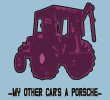 TRACTOR PINK text; ...My other car's a porsche... by nayamina