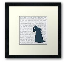 The Witch's Rap Framed Print